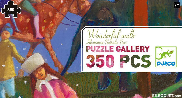 Puzzle Gallery Wonderful walk (350 pieces) Djeco