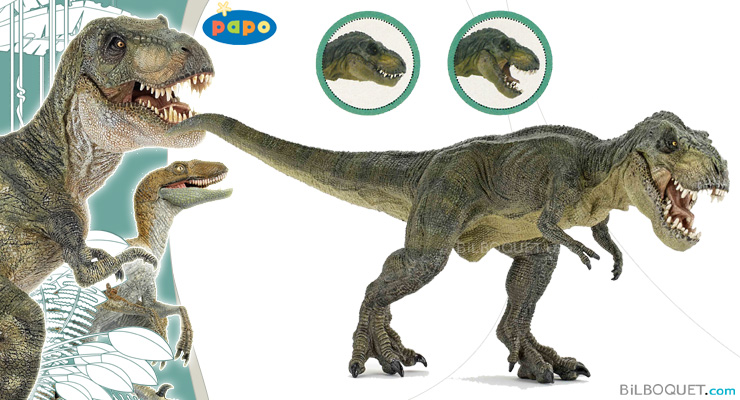 Green running T-Rex Papo