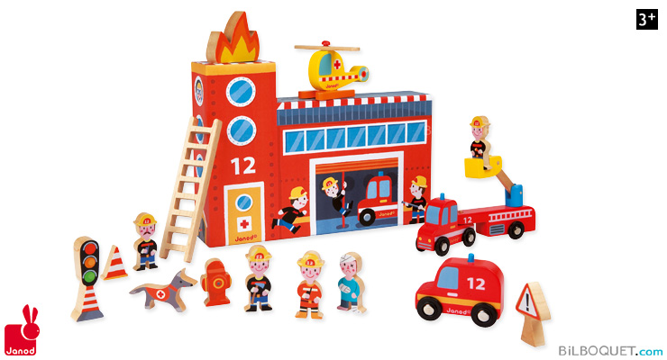 Story Box Firefighters Wooden Toys Janod