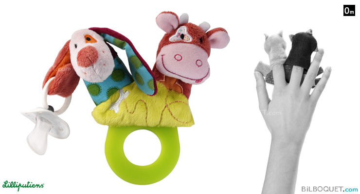 Jef the dog Teether rattle Lilliputiens