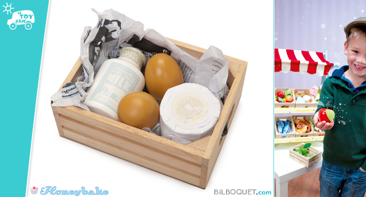 Eggs and Dairy Crate Wooden Toys Le Toy Van