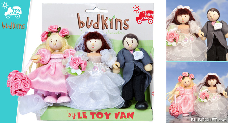 Wedding Day: Bride, Groom and Bridesmaid Le Toy Van