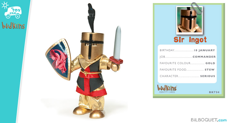Sir Ingot Knight - Budkins Wooden Characters Le Toy Van