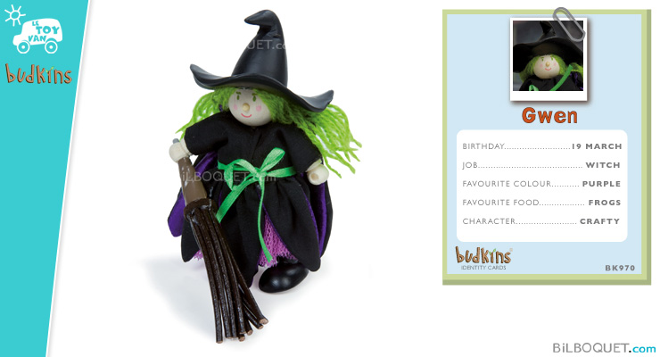 Gwen the Witch - Budkins Wooden Characters Le Toy Van