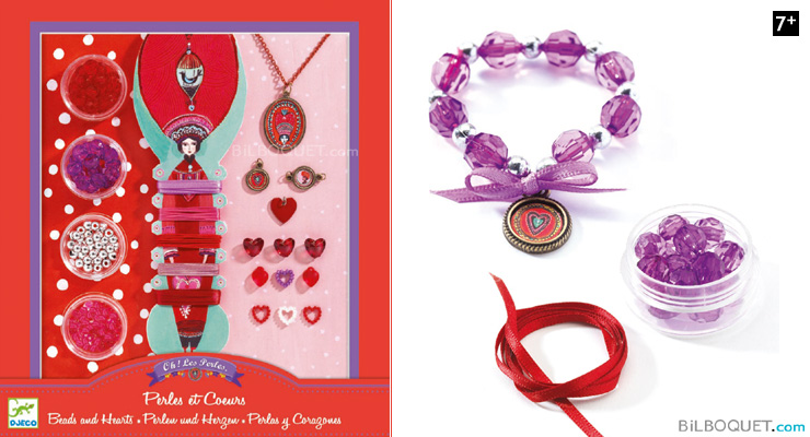 Beads and Hearts Design by Aurélia Fronty Djeco