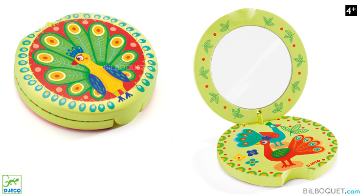 Peacock's Tail Mirror Beauty Accessory Djeco
