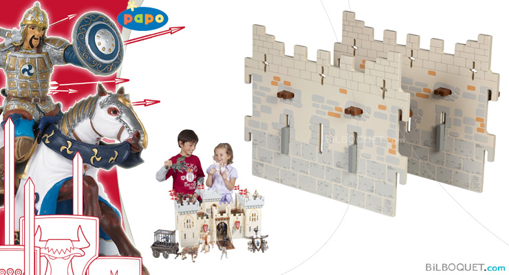 2 large walls - Expansion pack for Weapon Master Castle Papo