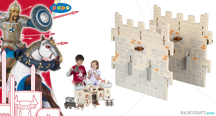 2 medium walls - Expansion pack for Weapon Master Castle Papo