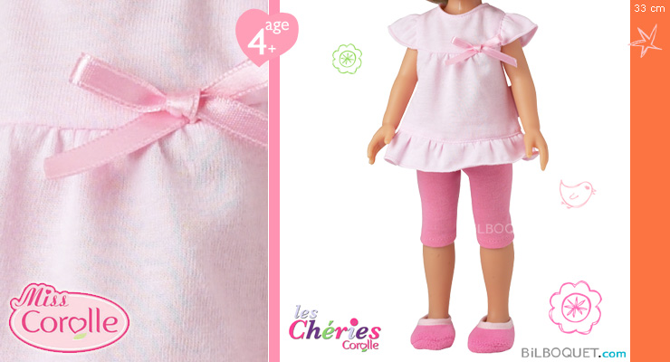 Pink Nighttime Set Clothes for Chéries Corolle Dolls 33cm Corolle