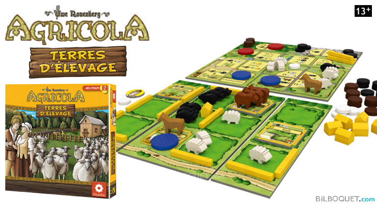 Agricola Terres d'élevage Board Game for 2 players Filosofia