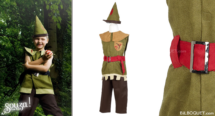 Robin Wood Costume for little boy age 4-7 Souza for kids