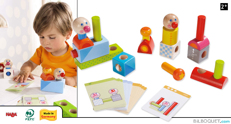 Pegging Game Smart Fellow First Wooden Building Set Haba