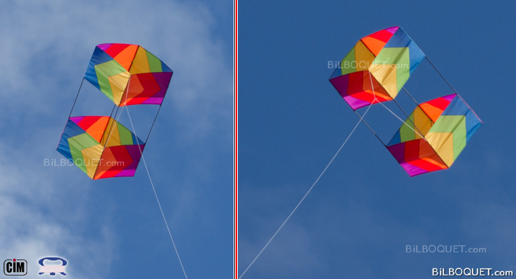 Classic Box Single-line Kite Colours in Motion