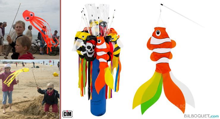Clownfish Mini Windsock on stick Colours in Motion