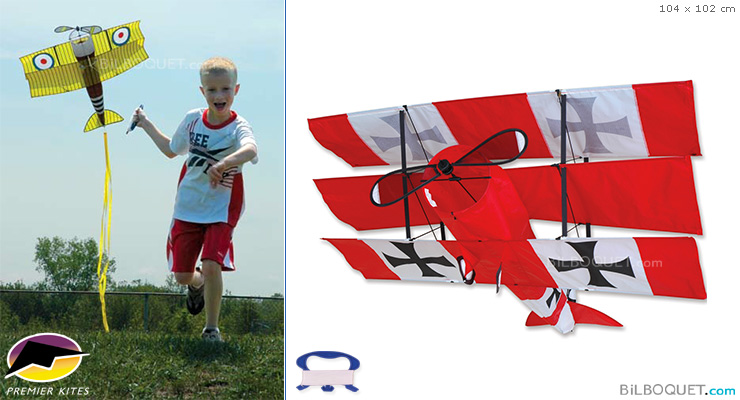 Red Baron Triplan Single-line Kite Premier Kites & Designs