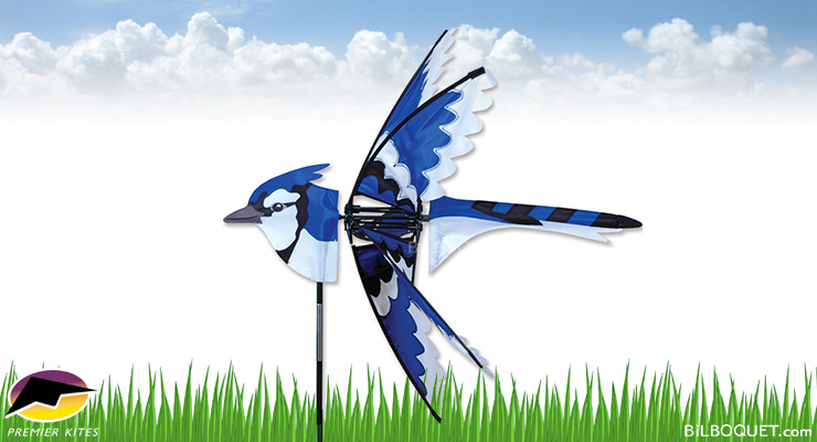 Blue Jay Bird Spinner 64 x 66 cm Premier Kites & Designs