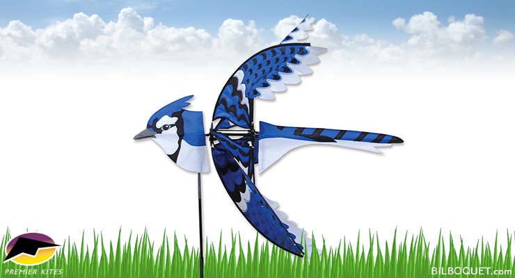 Blue Jay Bird Spinner Large Size 88 x 81 cm Premier Kites & Designs