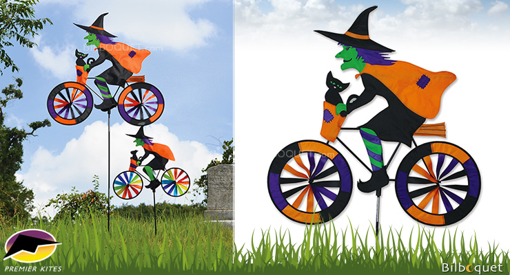 Witch Bicycle Spinner 76x81cm Premier Kites & Designs