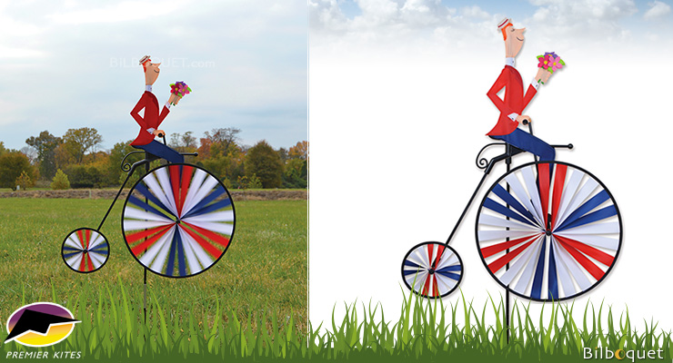 High Wheel Bicycle Spinner 62 x 78 cm Premier Kites & Designs
