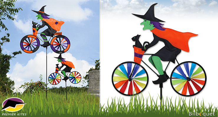 Witch Bicycle Spinner 50x46cm Premier Kites & Designs