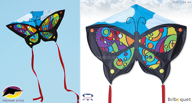 Rainbow Orbit Butterfly Single-line Kite for children (132x94cm) Premier Kites & Designs