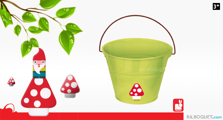 Natur' Metal Bucket Garden tools for children Janod