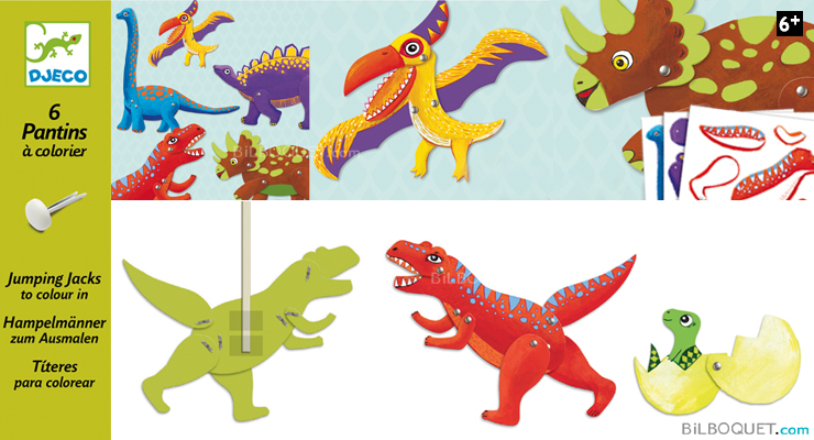 Pantins en papier Dino Design by Peggy Nille Djeco