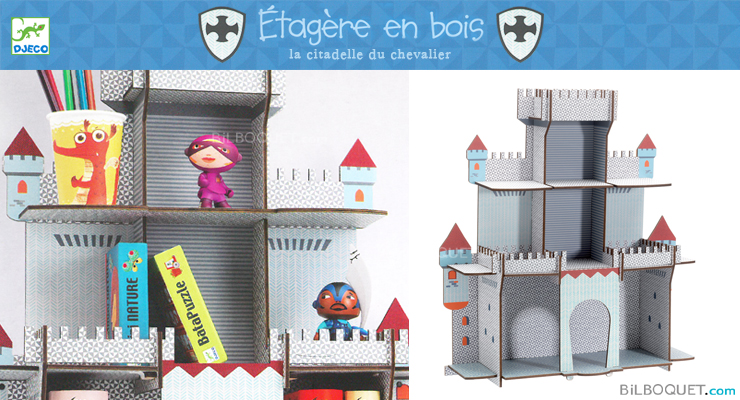 Wooden shelf unit The Knight's Citadel Little Big Room by Djeco