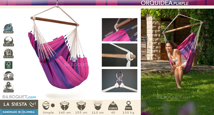 Hammock Chair Orquidea Purple La Siesta Hammocks