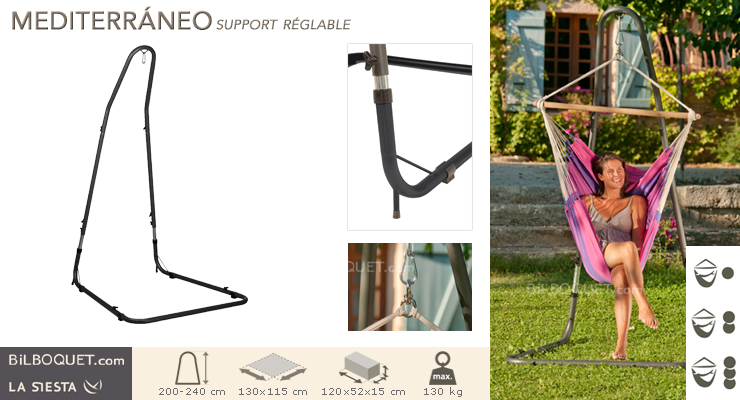 Adjustable Hammock Chair Stand Mediterraneo La Siesta Hammocks