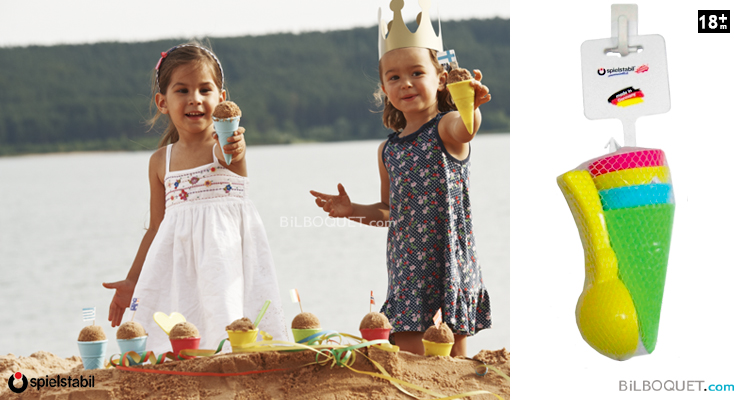 Ice cream cone assorted and spoon Spielstabil