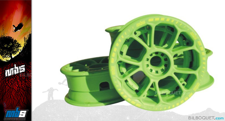 MBS Twistar Hubs (set of 4) green MBS Mountainboards