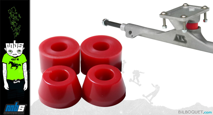 MBS Bushings for ATS and VECTOR trucks (set of 4) red (hard) MBS Mountainboards