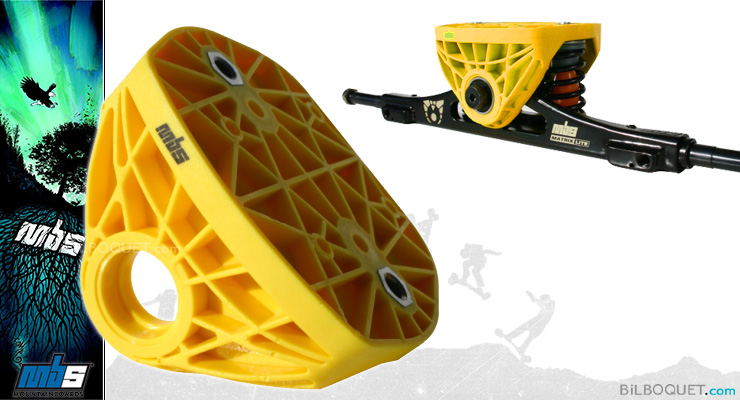 Top Truck pour trucks Matrix et Matrix Light MBS jaune MBS Mountainboards