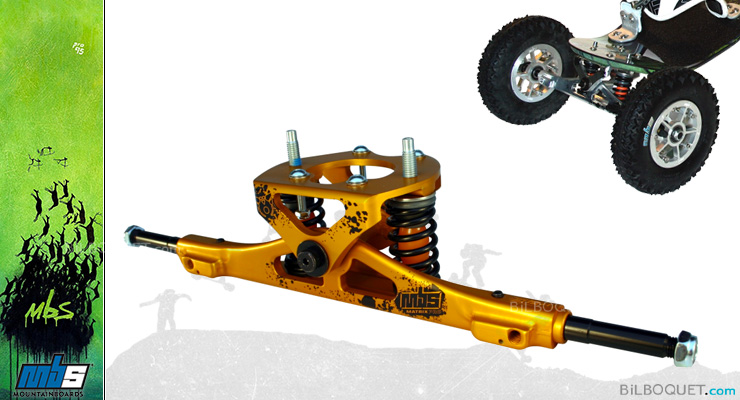 MBS Matrix PRO Truck gold MBS Mountainboards