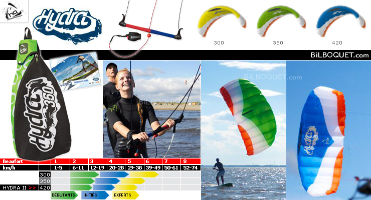 HQ Hydra II - Land & Water Trainer Kite 420 HQ Kites