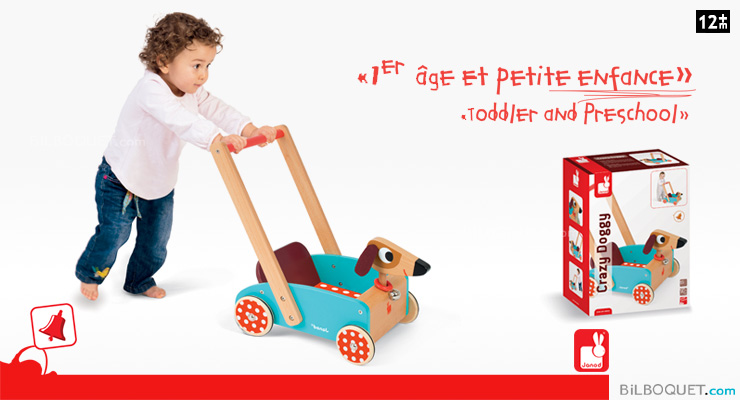Wooden Crazy Doggy Cart Janod