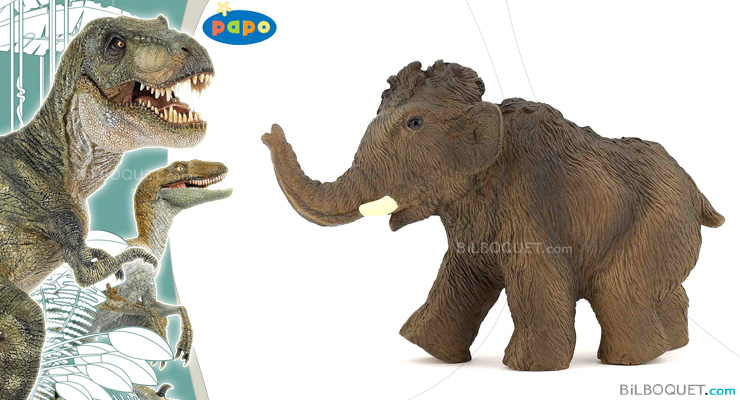 Young Mammoth Toy Figurine Papo