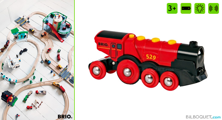 Mighty Red Action Locomotive BRIO
