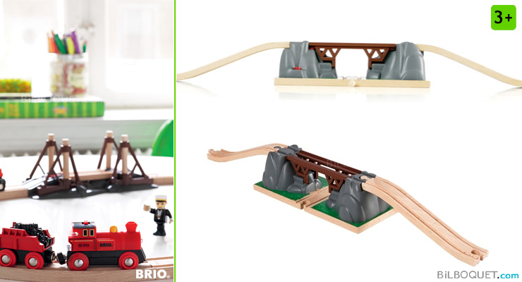 Collapsing Bridge for wooden railway system BRIO