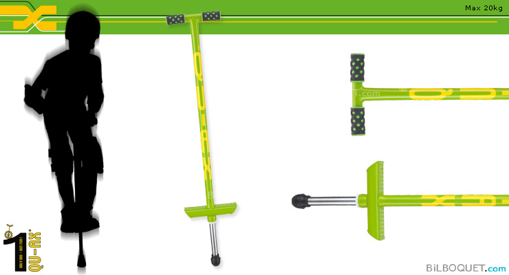 Pogo Stick for children up to 20kg GREEN QU-AX