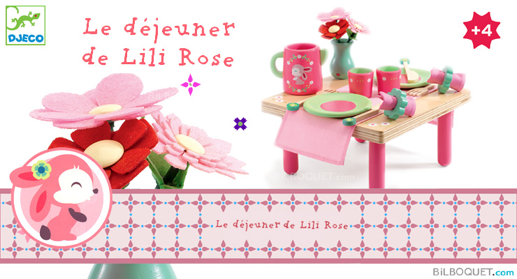Lili Rose's Lunch Set Wooden Role Play Djeco