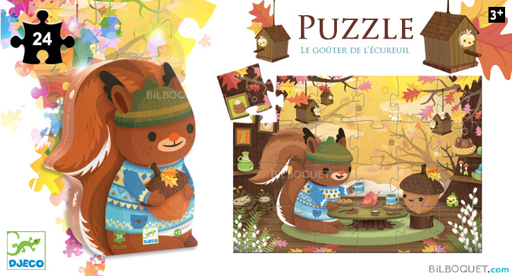 Silhouette puzzle The Squirrel's Snack (24 pieces) Djeco
