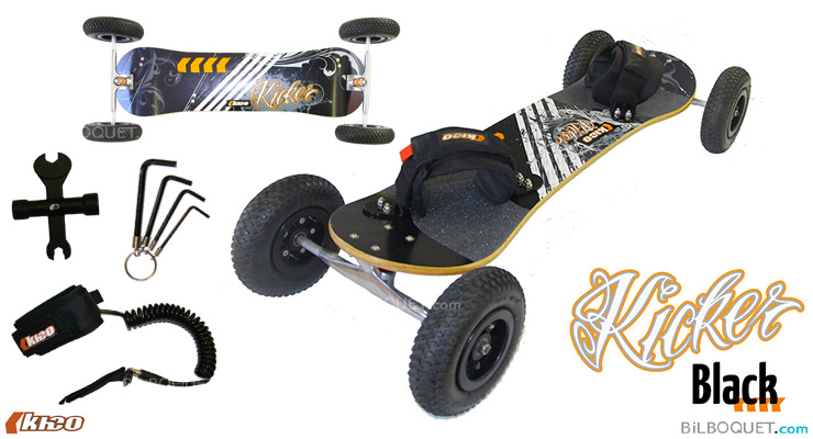 Kheo Kicker All-Terrain Board 8inch wheels - BLACK Kheo Mountainboards
