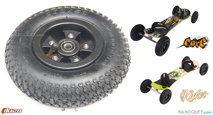 Kheo KICKER or CORE complete wheel (per unit) 9 inches Kheo Mountainboards