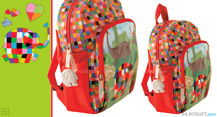 Backpack Elmer Elephant Petit Jour