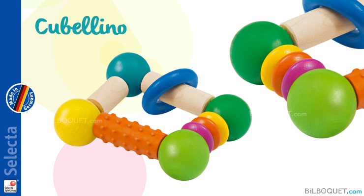 Rattle Wooden Cubellino Selecta