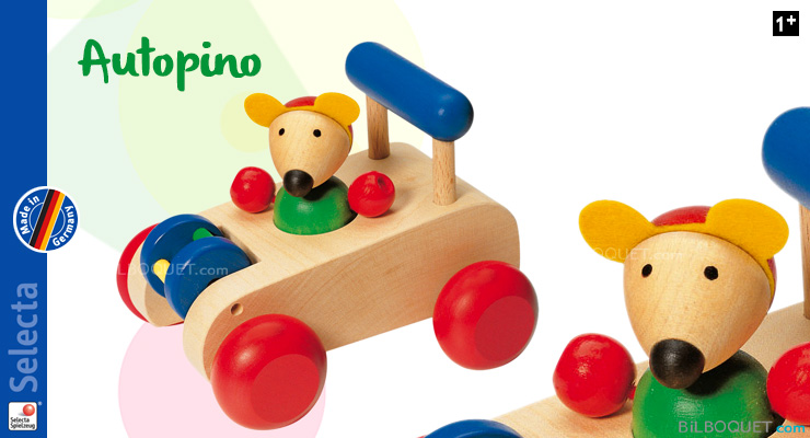 Car wooden mouse Autopino Selecta