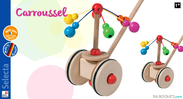 Wooden Push Toy Carousel Selecta