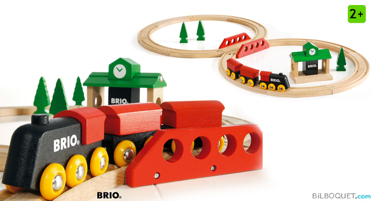 Circuit tradition en 8 - Train en bois BRIO BRIO